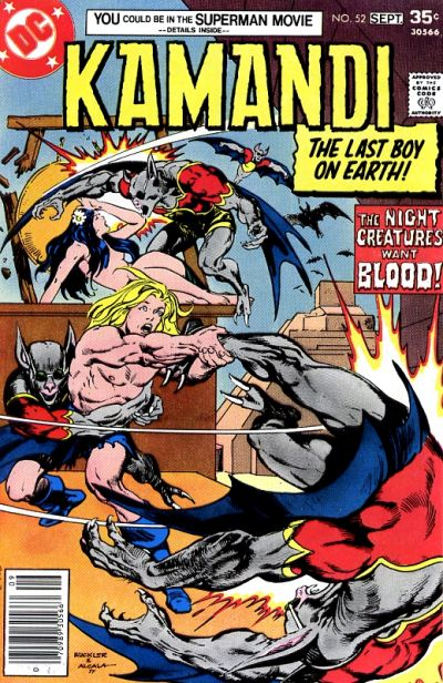Cover for Kamandi, The Last Boy on Earth (DC, 1972 series) #52