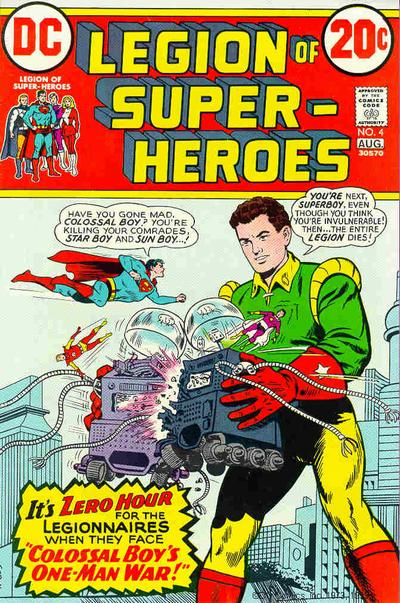 Cover for Legion of Super-Heroes (DC, 1973 series) #4