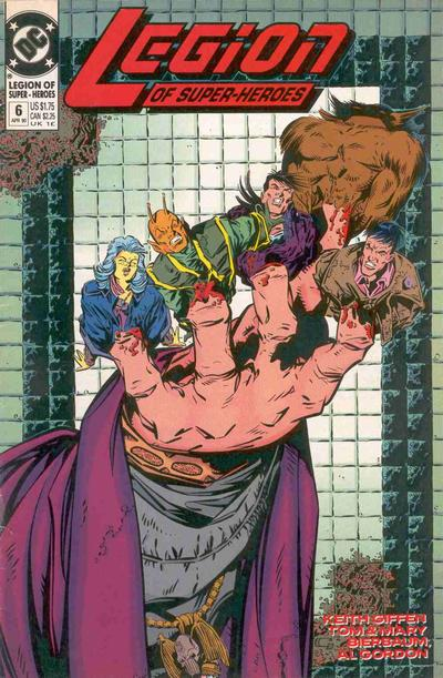 Cover for Legion of Super-Heroes (DC, 1989 series) #6