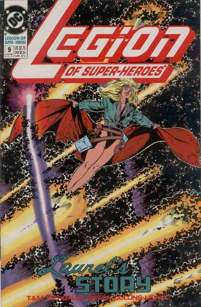 Cover for Legion of Super-Heroes (DC, 1989 series) #9