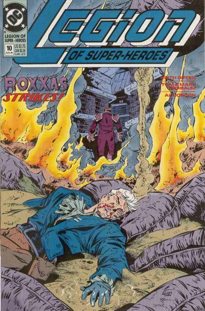 Cover for Legion of Super-Heroes (DC, 1989 series) #10