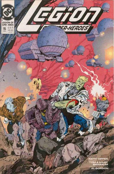 Cover for Legion of Super-Heroes (DC, 1989 series) #15