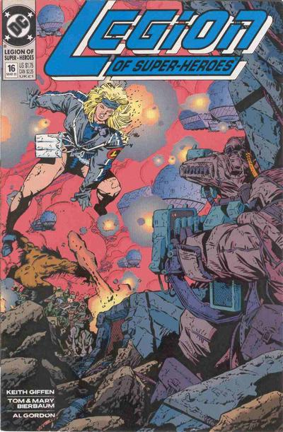 Cover for Legion of Super-Heroes (DC, 1989 series) #16