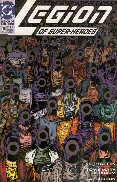 Cover for Legion of Super-Heroes (DC, 1989 series) #18