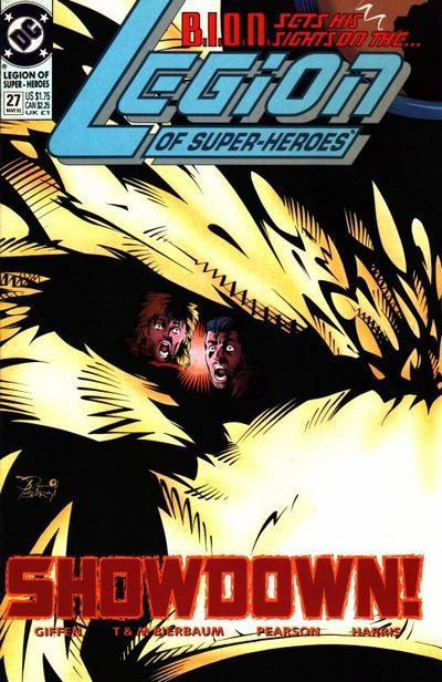 Cover for Legion of Super-Heroes (DC, 1989 series) #27