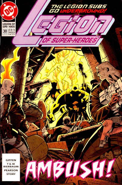 Cover for Legion of Super-Heroes (DC, 1989 series) #30