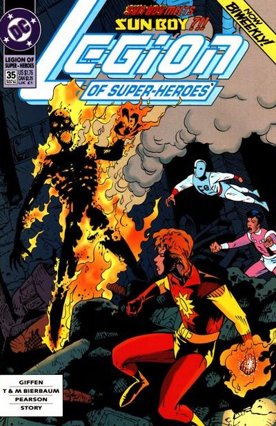 Cover for Legion of Super-Heroes (DC, 1989 series) #35