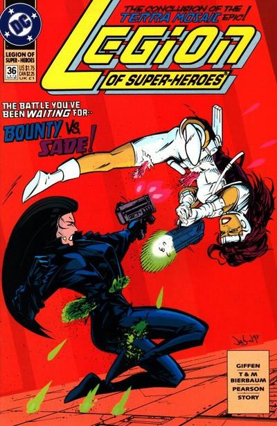 Cover for Legion of Super-Heroes (DC, 1989 series) #36