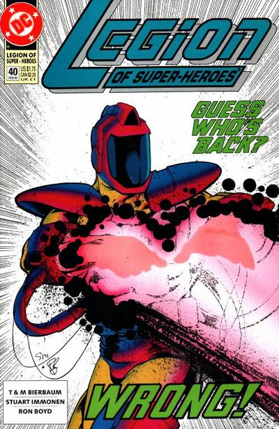 Cover for Legion of Super-Heroes (DC, 1989 series) #40
