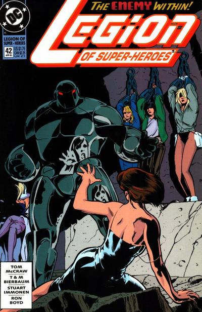Cover for Legion of Super-Heroes (DC, 1989 series) #42