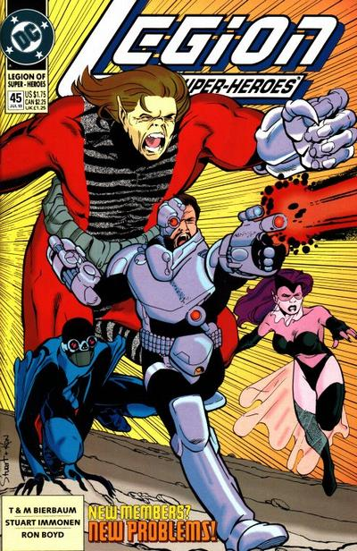 Cover for Legion of Super-Heroes (DC, 1989 series) #45