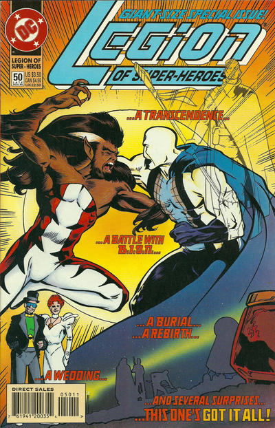 Cover for Legion of Super-Heroes (DC, 1989 series) #50