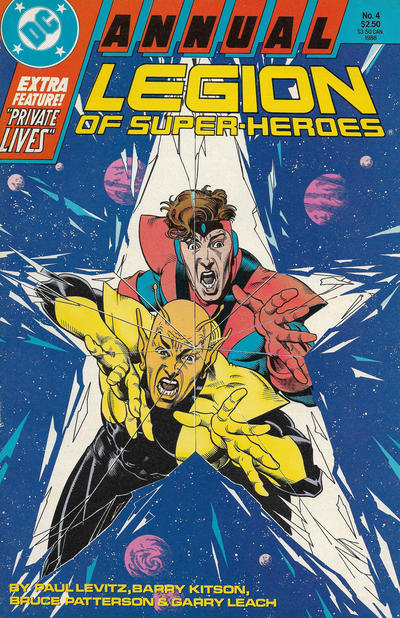 Cover for Legion of Super-Heroes Annual (DC, 1985 series) #4