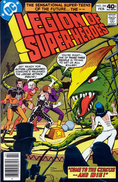 Cover for The Legion of Super-Heroes (DC, 1980 series) #260