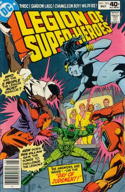 Cover for The Legion of Super-Heroes (DC, 1980 series) #263 [Whitman]
