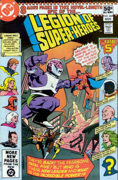 Cover for The Legion of Super-Heroes (DC, 1980 series) #269 [Newsstand]