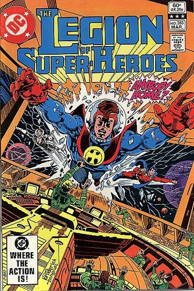Cover for The Legion of Super-Heroes (DC, 1980 series) #285 [Direct]