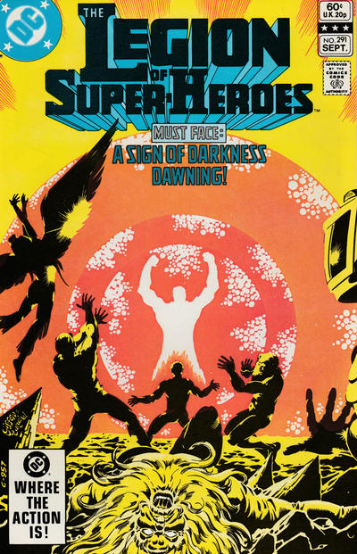 Cover for The Legion of Super-Heroes (DC, 1980 series) #291 [Direct]