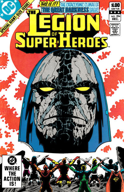 Cover for The Legion of Super-Heroes (DC, 1980 series) #294 [Direct]