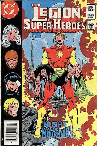 Cover for The Legion of Super-Heroes (DC, 1980 series) #296 [Direct]