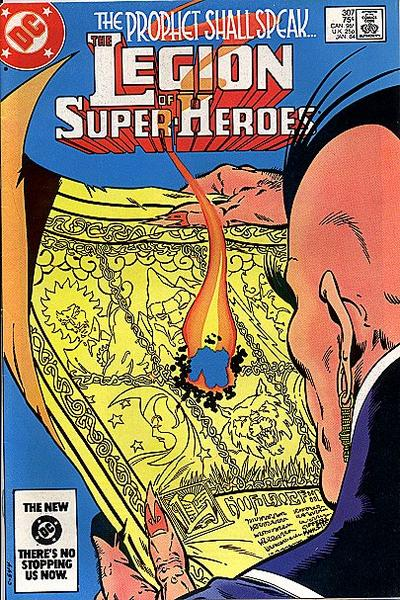 Cover for The Legion of Super-Heroes (DC, 1980 series) #307 [Direct-Sales]