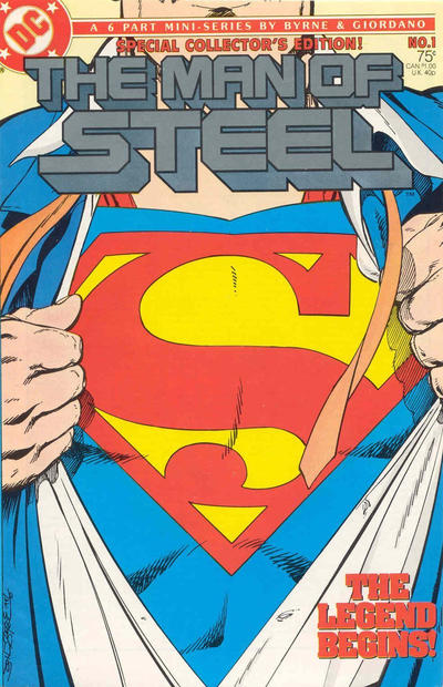Cover for The Man of Steel (DC, 1986 series) #1 [Standard Cover - Direct]