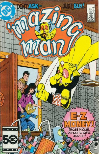 Cover for 'Mazing Man (DC, 1986 series) #2 [Direct Sales]