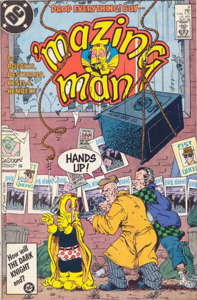 Cover for 'Mazing Man (DC, 1986 series) #9