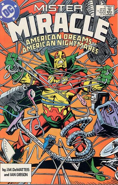 Cover for Mister Miracle (DC, 1989 series) #1 [Newsstand]