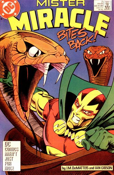 Cover for Mister Miracle (DC, 1989 series) #2 [Direct]