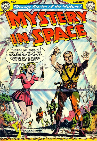 Cover for Mystery in Space (DC, 1951 series) #9
