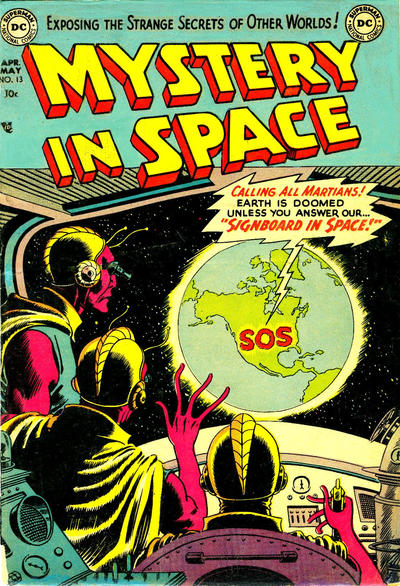 Cover for Mystery in Space (DC, 1951 series) #13