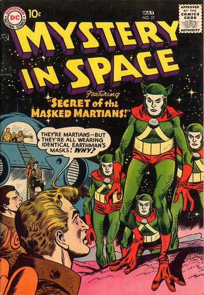 Cover for Mystery in Space (DC, 1951 series) #37