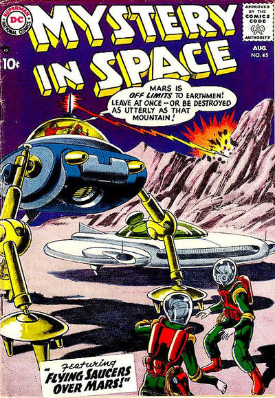 Cover for Mystery in Space (DC, 1951 series) #45