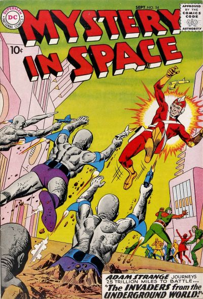 Cover for Mystery in Space (DC, 1951 series) #54