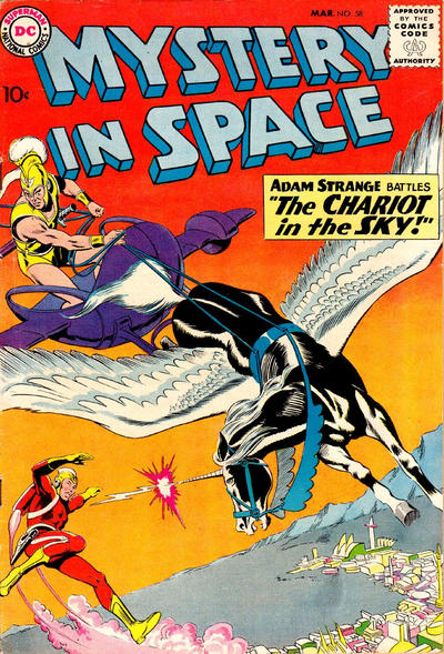 Cover for Mystery in Space (DC, 1951 series) #58