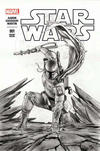 Cover for Star Wars (Marvel, 2015 series) #1 [Forbidden Planet Exclusive Adi Granov Black and White Variant]