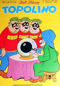 Cover Thumbnail for Topolino (Arnoldo Mondadori Editore, 1949 series) #923
