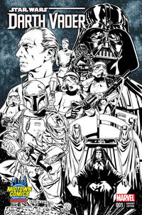Cover Thumbnail for Darth Vader (Marvel, 2015 series) #1 [Mark Brooks Midtown Comics Exclusive Black and White Connecting Cover Variant]