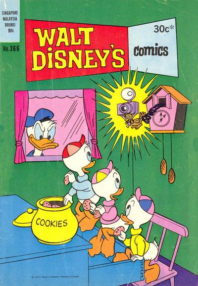 Cover for Walt Disney's Comics (W. G. Publications; Wogan Publications, 1946 series) #366