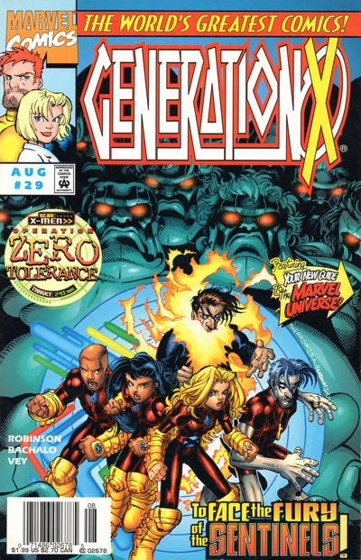 Cover for Generation X (Marvel, 1994 series) #29 [Direct Edition]