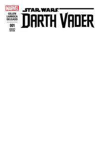 Cover Thumbnail for Darth Vader (Marvel, 2015 series) #1 [Blank Cover Variant]