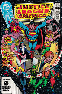 Cover for Justice League of America (DC, 1960 series) #217 [Newsstand]