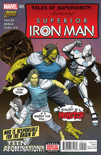 Cover for Superior Iron Man (Marvel, 2015 series) #5