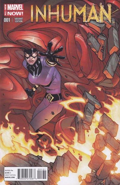 Cover for Inhuman (Marvel, 2014 series) #1 [J. Scott Campbell Variant]