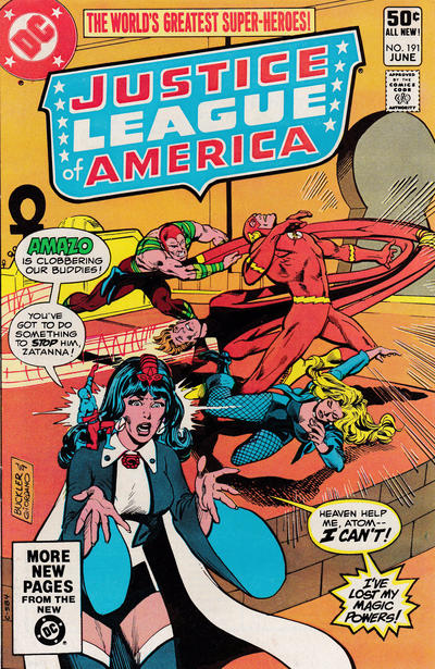 Cover for Justice League of America (DC, 1960 series) #191 [Direct]