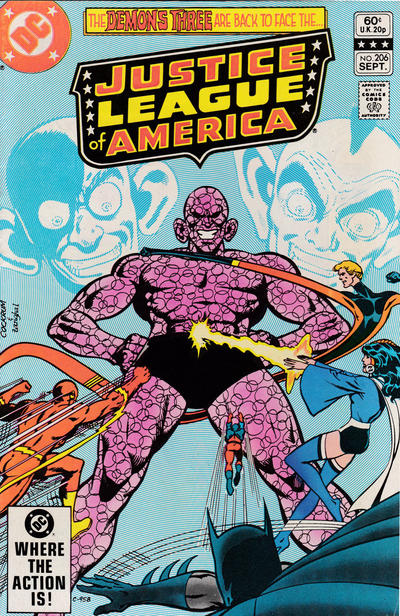 Cover for Justice League of America (DC, 1960 series) #206 [Newsstand]
