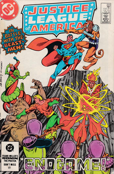 Cover for Justice League of America (DC, 1960 series) #223 [Direct Sales]
