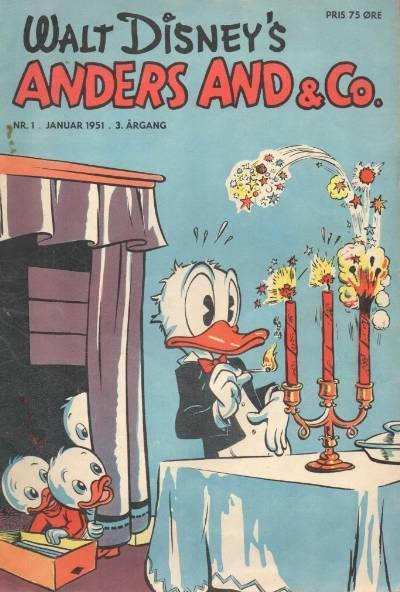 Cover for Anders And & Co. (Egmont, 1949 series) #1/1951