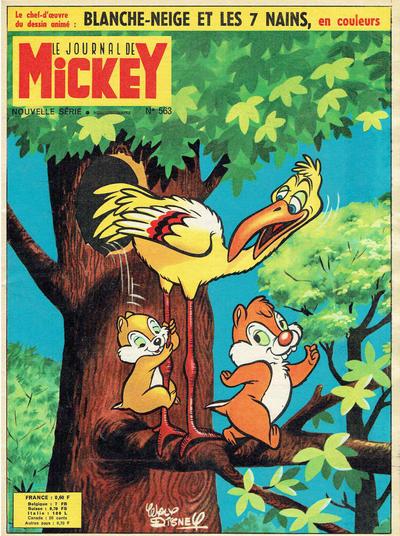 Cover for Le Journal de Mickey (Disney Hachette Presse, 1952 series) #563